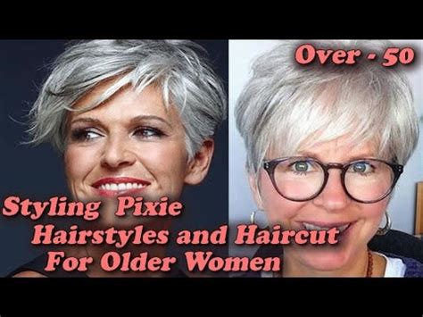 styling pixie hairstyles  haircut  older women