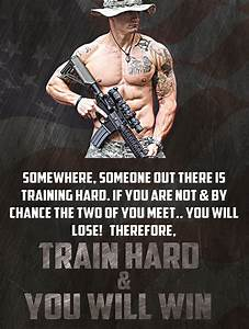 "Military Motivation Poster ""Train Hard & You Will Win"
