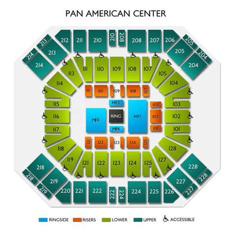 pan american center seating chart