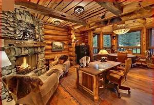 cozy wood cabin interior wood cabin pinterest With maison rondin bois prix 15 fabrication de la cabane en rondins en bois photographie