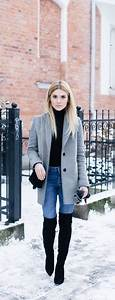 40 Ways to Wear Knee High Boots Outfit this Winter - Fashiondioxide