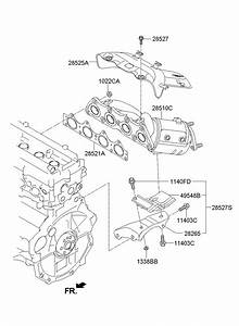 285102bef1 - Hyundai Manifold Catalytic Assembly