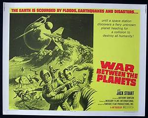 WAR BETWEEN THE PLANETS Sci Fi US Half sht Movie poster | eBay
