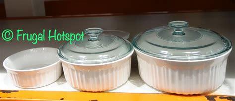 corningware french white ceramic bakeware   costco frugal hotspot