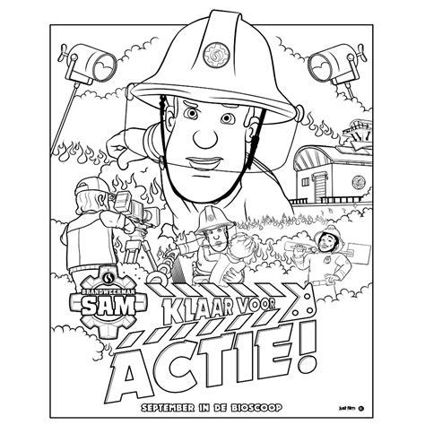 Brandweerman Sam Kleurplaat Titan leuk voor kleurplaat brandweerman sam klaar voor