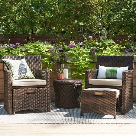 Small Patio Furniture by Halsted 5pc Wicker Patio Seating Set Threshold