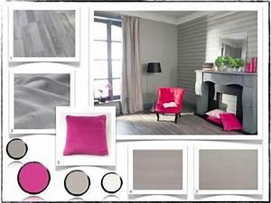 Salon Gris Et Rose : deco salon gris et rose ~ Preciouscoupons.com Idées de Décoration