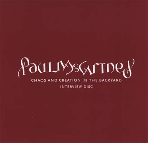 Chaos And Creation In The Backyard by Paul Mccartney And Wings Chaos And Creation In The