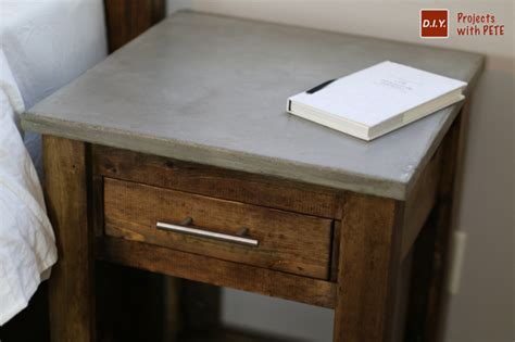how to build a nightstand diy nightstand plans concrete nightstand