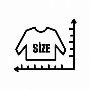 Clothing Size Chart Stock Vector  Illustration Of Drawing
