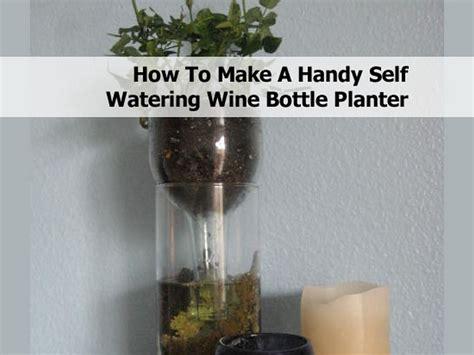 handy  watering wine bottle planter