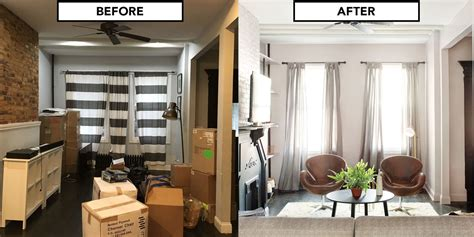 home design before and after home makeover for a house living room design