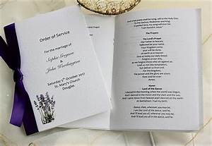 lavender order of service books wedding stationery With wedding ceremony order of service