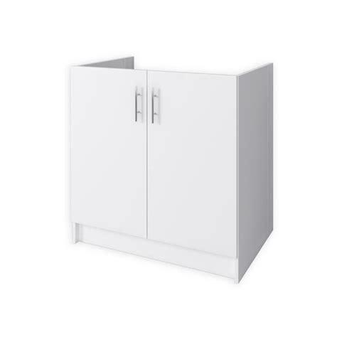 evier cuisine 80 cm obi meuble sous évier 2 portes 80 cm blanc mat achat