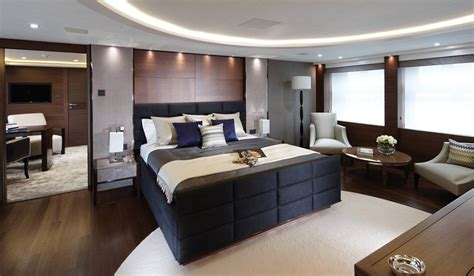 Master Bedroom Office Space by Princess Yacht Debut Yachts Miami Photos Features