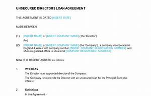 Unsecured directors loan agreement template bizorb for Directors loan to company agreement template