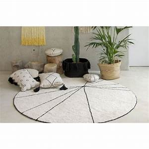tapis rond coton beige lorena canals trace 160 cm With tapis rond 160 cm