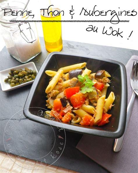 cuisine au wok penne thon aubergines au wok cuisine addict