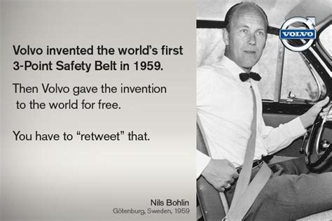 volvo invented   point seatbelt  gave invention