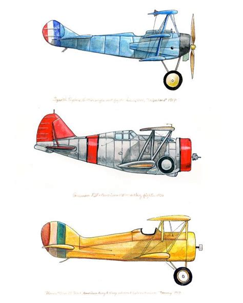 giclee print featuring  vintage airplanes  red