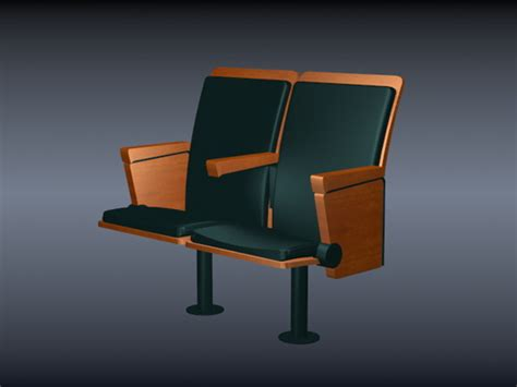 two seater cinema chair 3d model 3dsmax files free