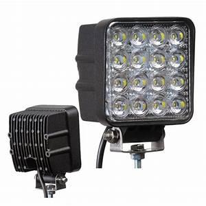 Arbeitsscheinwerfer Led 12v : led arbeitsscheinwerfer 48 watt 10 30 volt 4000 lumen ~ Kayakingforconservation.com Haus und Dekorationen