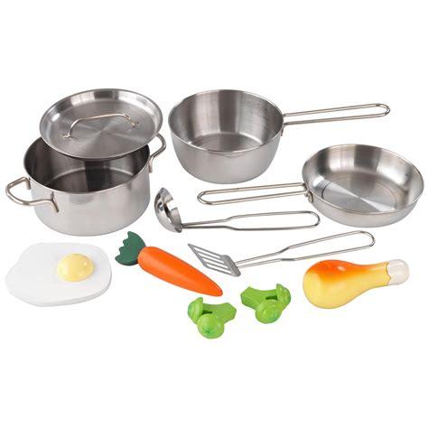 kidkraft metal accessories set 63186 play kitchen