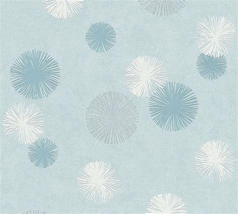 tapete mit pusteblume tapete vlies pusteblume blau creme glitzer livingwalls 35607 3