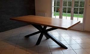 Table Pied Croisé : am 39 fer tables manger ~ Teatrodelosmanantiales.com Idées de Décoration