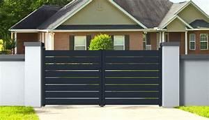 Portail Alu 4m : portail aluminium ajustable 4m double battants easysize ~ Voncanada.com Idées de Décoration