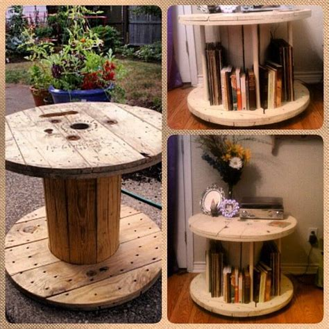 bookshelftable      wire spool