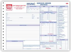 Hvac Free Estimate by Business Forms For Hvac Contractors