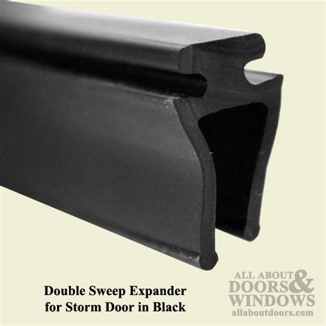 larson double sweep expander  storm door black