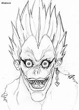 Ryuk Death Note Coloring Manga Drawing Anime Sketch Template Deviantart Dessin Imagixs Credit Books Larger Fan sketch template