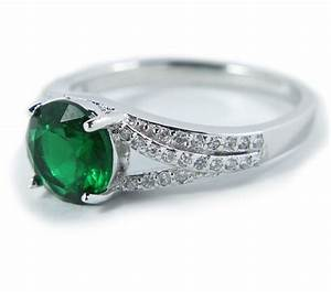 perfect 150 carat green cubic zirconium antique With wedding rings under 150