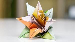 Origami Blumen Falten : geldgeschenk hochzeit blumen falten youtube ~ Watch28wear.com Haus und Dekorationen