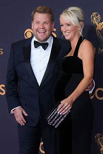 James Corden steps out with wife Julia following birth of ...