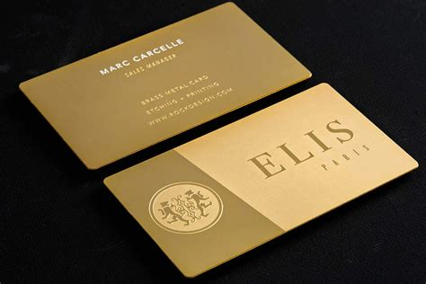 gold metal business cards rockdesign luxury business