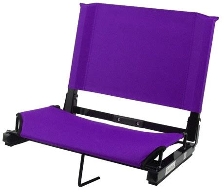 stadium chair canvas steel frame lot of 6 purple ebay