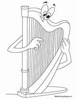 Harp Coloring Harmonica Ireland Sheets Printable Template Instruments Symbol Bestcoloringpages Worksheets Drawing Omalovánky Hudební Templates Musical Pinu Zdroj Houslový Results sketch template