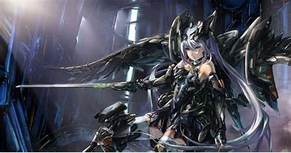 Knight Anime Wallpapers Cool Fantasy Robot Female