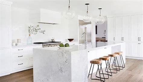 white kitchen island 5 most stunning modern marble kitchen design pinn 1366