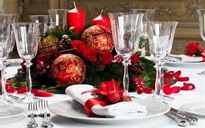 decoration table de noel pour une belle atmosphere de fete With tapis chambre bébé avec centre de table fleur noel