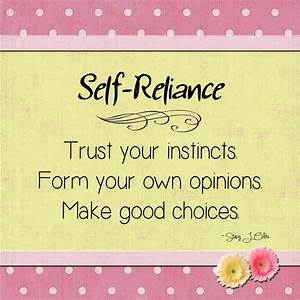 Image Gallery self reliance quotes