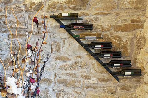 Mensole Porta Bottiglie Portabottiglie Diagonale 100cm In Metallo Porta