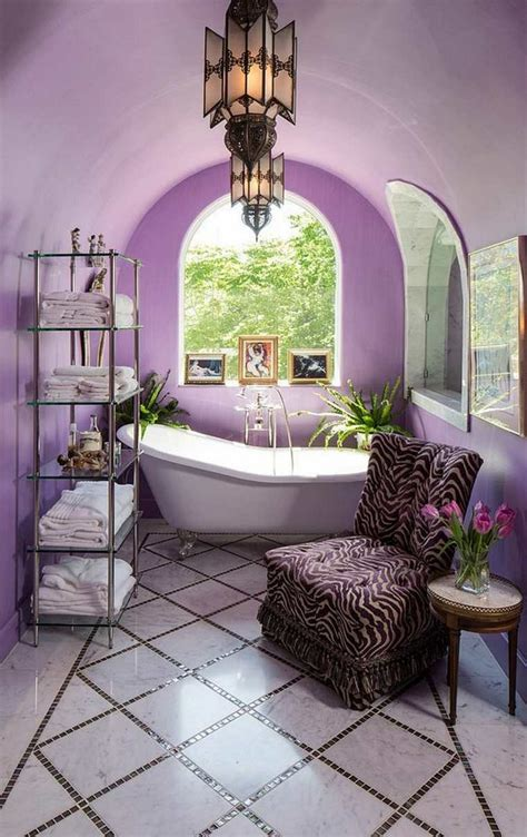 Purple Color Bathroom by Get Inspired With Purple Bathrooms