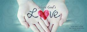 Download Share God's Love - Christian Facebook Cover & Banner