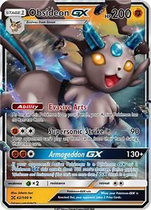 Obsideon GX (Rock Eeveelution) Custom Pokemon Card – ZabaTV