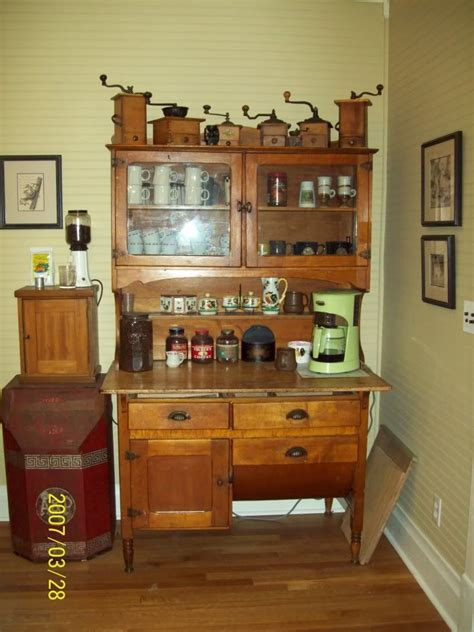 coffee cabinets for kitchen decorating with vintage coffee grinders my oma collected