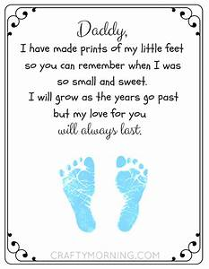 Free Printable Father's Day Footprint Poem - Crafty ...